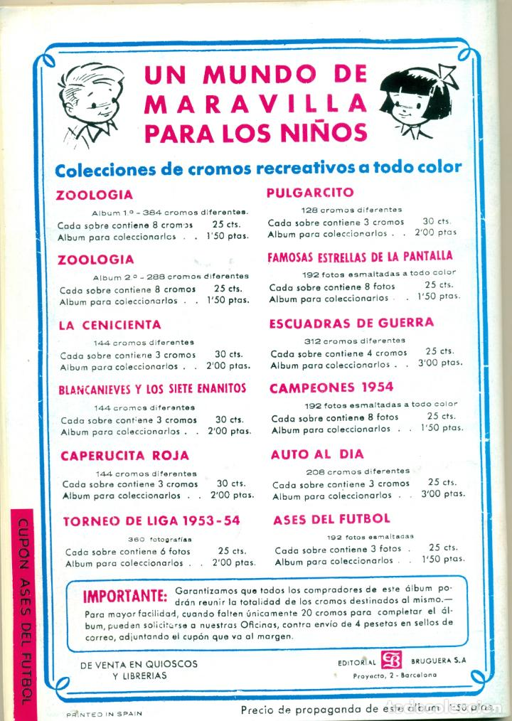 Álbum de fútbol completo: ASES DEL FUTBOL DE BRUGUERA LIGA 1953-54 COMPLETO. FACILIDADES DE PAGO - Foto 5 - 194752645