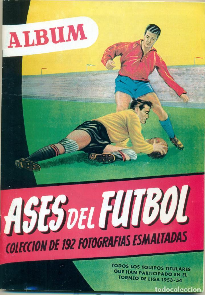 ASES DEL FUTBOL DE BRUGUERA LIGA 1953-54 COMPLETO. FACILIDADES DE PAGO (Coleccionismo Deportivo - Álbumes y Cromos de Deportes - Álbumes de Fútbol Completos)