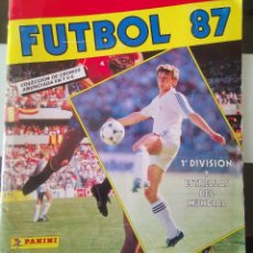 Álbum de fútbol completo: ÁLBUM CROMOS 1987 1988 FÚTBOL LIGA 1ª DIVISIÓN 87-88 ESTRELLAS DEL MUNDIAL PANINI COMPLETO. Lote 195014723