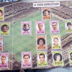 Álbum de fútbol completo: DIPTICO SELECCIO MUNDIAL FUTBOL AÑOS 70 JOHAN CRUYFF FUTBOL CLUB BARCELONA GUNTER NETZER REAL MADRID. Lote 195014967