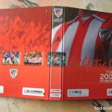 Álbum de fútbol completo: ATHLETIC CLUB TEMPORADA 2000-01 (LAMINAS DE 30 CTM. X 21 CTM.). Lote 195081915
