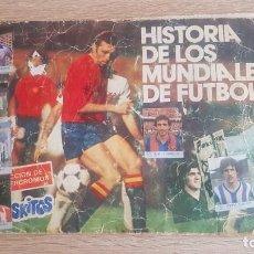 Álbum de fútbol completo: ÁLBUM HISTORIA DE LOS MUNDIALES DE FÚTBOL PHOSKITOS. Lote 195242425
