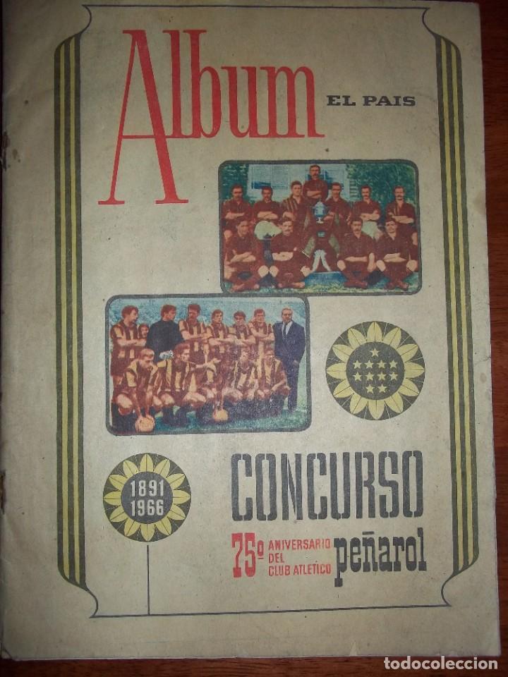 ANTIGUO ÁLBUM CLUB ATLÉTICO PEÑAROL DE URUGUAY EN SUS 75 ANIVERSARIO AÑO 1966. COMPLETO (Coleccionismo Deportivo - Álbumes y Cromos de Deportes - Álbumes de Fútbol Completos)