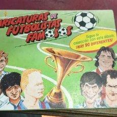 Álbum de fútbol completo: ALBUM CARICATURAS DE FUTBOLISTAS FAMOSOS PANRICO BUEN ESTADO. Lote 195364491