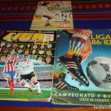 Álbum de fútbol completo: LIGA ESTE 12 13 2012 2013 COMPLETO, 86 87 1986 1987 CASI COMPLETO. REGALO ASES AS 1988 89 COMPLETO.. Lote 197401576