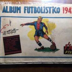 Caderneta de futebol completa: ALBUM FUTBOLISTICO 1942, 89 CROMOS, EDITORIAL CISNE, REAL MADRID,AVIACIÓN,VALENCIA,BARCELONA. VILR. Lote 198119855