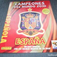Álbum de fútbol completo: DEFECTOS SUPLEMENTO ALBUM COMPLETO CON LOS CROMOS EXTRA ESPAÑA SUDAFRICA MUNDIAL CUP 2010. Lote 200051100
