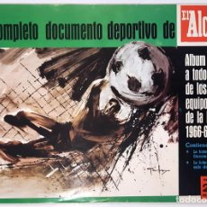Álbum de fútbol completo: ALBUM 1966 1967 LIGA 66 67 FUTBOL. COMPLETO. REAL MADRID, ATHLETIC BILBAO, BARCELONA. EXCELENTE. Lote 201609386