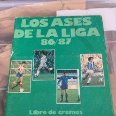 Álbum de fútbol completo: ALBUM FUTBOL COMPLETO LOS ASES DE LA LIGA 86/87. Lote 202096668