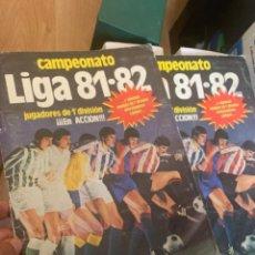 Álbum de fútbol completo: LIGA ESTE 81-82 ALBUM COMPLETO. TODOS HUECOS RELLENOS. REGALO TAPAS ORIGINALES EN MEJOR ESTADO. Lote 191197991