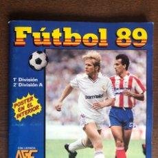 Álbum de fútbol completo: ALBUM LIGA FUTBOL 89 PANINI COMPLETO MUY BUEN ESTADO INCLUYE POSTER CENTRAL. Lote 202677518