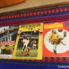 Álbum de fútbol completo: MUNICH 74 COMPLETO, ARGENTINA 78 INCOMPLETO CON 268 CROMOS. FHER. REGALO MARADONA DRIBLINGS VACÍO.. Lote 203444325