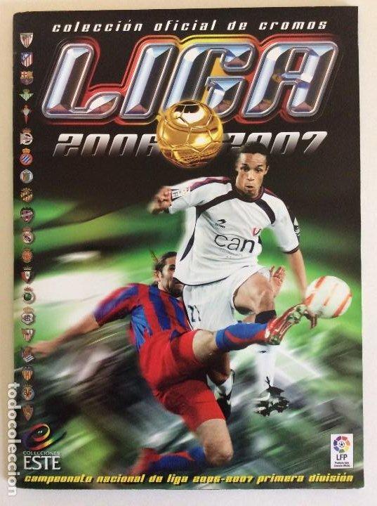 LIGA ESTE 2006/07 ÁLBUM LUJO COMPLETO 18 POR EQUIPOS TOTAL 360+137 SIN PEGAR+ 48 UF+LOS 28 CRACKS- (Coleccionismo Deportivo - Álbumes y Cromos de Deportes - Álbumes de Fútbol Completos)