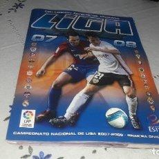 Álbum de fútbol completo: INCREÍBLE ALBUM COMPLETO CON MUCHOS DOBLES LIGA 2007-08 ESTE. Lote 205521015