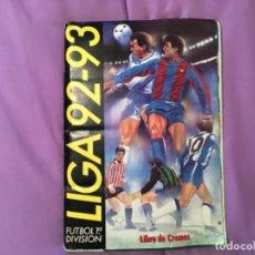 Álbum de fútbol completo: ESTE ÁLBUM 1992 1993 92 93 TODO LO EDITADO. COMPLETO.. Lote 205543150