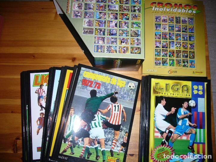 COLECCIÓN COMPLETA CROMOS INOLVIDABLES DEL FÚTBOL ESPAÑOL .... VER IMÁGENES (Coleccionismo Deportivo - Álbumes y Cromos de Deportes - Álbumes de Fútbol Completos)