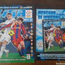 Álbum de fútbol completo: ÁLBUM DE CROMOS LIGA ESTE 11 12 2011 2012 CON EL MERCADO DE INVIERNO. Lote 206225013