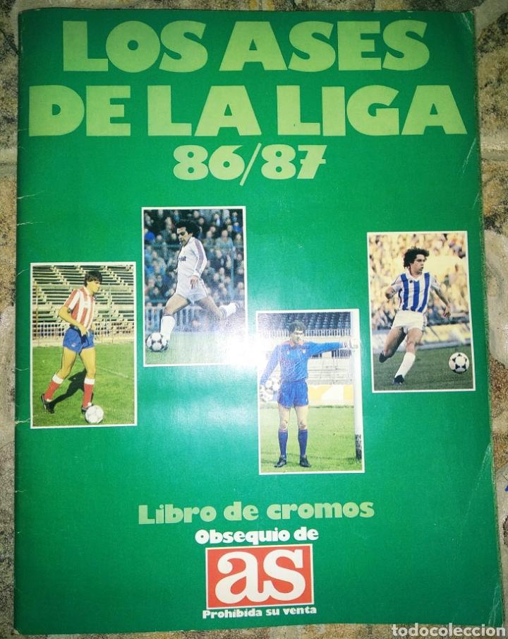 ALBUM COMPLETO ASES DE LA LIGA 86/87 (Coleccionismo Deportivo - Álbumes y Cromos de Deportes - Álbumes de Fútbol Completos)