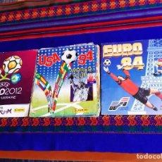 Álbum de fútbol completo: EURO 84 FRANCIA INCOMPLETO, USA 94 WORLD CUP COMPLETO PANINI. REGALO EURO 2012 POLONIA UCRANIA.. Lote 207071471