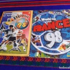Álbum de fútbol completo: WORLD CUP FRANCE 98 COMPLETO DS STICKER Y MUNDIAL FRANCIA 98 INCOMPLETO EDICIONES ESTADIO. RAROS.. Lote 207072805