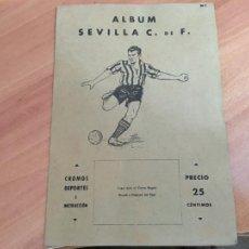 Álbum de fútbol completo: SEVILLA ALBUM FUTBOL COMPLETO VALENCIANA 1941 (COIB93). Lote 207103507