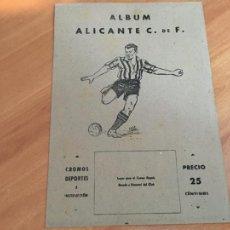 Álbum de fútbol completo: HERCULES DE ALICANTE ALBUM FUTBOL COMPLETO VALENCIANA 1941 (COIB93). Lote 207104273