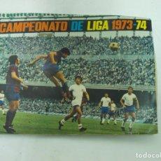 Álbum de fútbol completo: ÁLBUM CAMPEONATO LIGA 1973-74 FHER ÁLBUM Y FICHAJES ÚLTIMA HORA COMPLETOS, PÓSTER CENTRAL INCOMPLETO. Lote 207125895