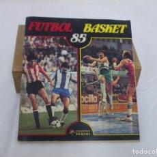 Álbum de fútbol completo: PANINI ALBUM FUTBOL BASKET 85 COMPLETO MUY BUEN ESTADO. Lote 207128203
