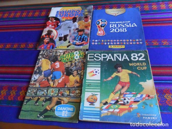 PANINI ESPAÑA 82 MUNDIAL FÚTBOL 1982 EN ACCIÓN COMPLETO RUSIA 2018 INCOMPLETO REGALO MEJORES EQUIPOS (Coleccionismo Deportivo - Álbumes y Cromos de Deportes - Álbumes de Fútbol Completos)