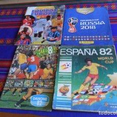 Álbum de fútbol completo: PANINI ESPAÑA 82 MUNDIAL FÚTBOL 1982 EN ACCIÓN COMPLETO RUSIA 2018 INCOMPLETO REGALO MEJORES EQUIPOS. Lote 209808918