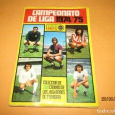 Álbum de fútbol completo: ANTIGUO ÁLBUM FUTBOL CAMPEONATO DE LIGA 1974 - 75 EDICIONES ESTE COMPLETO CON LOS ÚLTIMOS FICHAJES. Lote 209943540