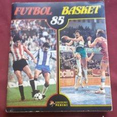 Álbum de fútbol completo: PANINI ALBUM FUTBOL BASKET 85 COMPLETO MUY BUEN ESTADO. Lote 210603685