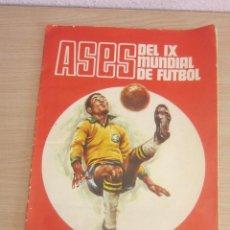 Álbum de fútbol completo: ASES DEL IX MUNDIAL DE FUTBOL, MEXICO-JUNIO 1970,DISGRA COMPLETO EN MUY BUEN ESTADO. Lote 210637570