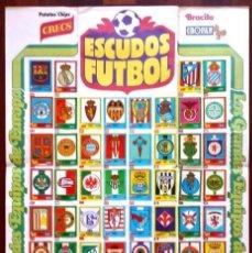 Álbum de fútbol completo: ALBUM POSTER CROPAN ESCUDOS FUTBOL GRANDES EQUIPOS DE EUROPA PATATAS CHIPS BRACITO AÑOS 70 COMPLETO. Lote 211506434