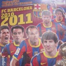 Álbum de fútbol completo: F.C. BARCELONA 2010 2011 COLECCION COMPLETA SIN PEGAR CON ALBUM PLANCHA PANINI. Lote 211785641