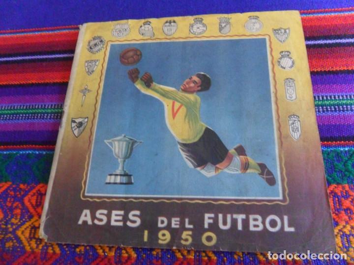 ASES DEL FUTBOL 1950 COMPLETO. BRUGUERA. MUY RARO. (Coleccionismo Deportivo - Álbumes y Cromos de Deportes - Álbumes de Fútbol Completos)