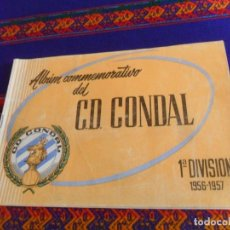 Caderneta de futebol completa: ALBUM CONMEMORATIVO DC CONDAL DE BARCELONA 1ª DIVISIÓN 1956 1957 56 57. BUEN ESTADO.. Lote 212202415