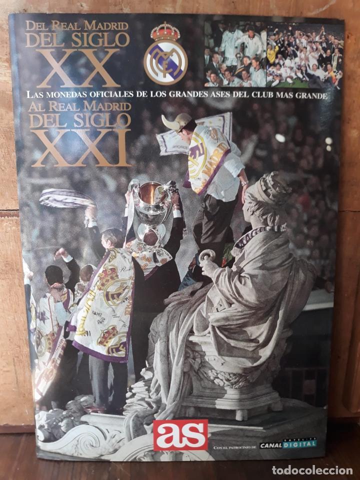 Álbum de fútbol completo: COLECCION LAS MONEDAS OFICIALES REAL MADRID DIARIO AS - GRANDES ASES ALBUM COMPLETO CROMOS - Foto 2 - 212419197
