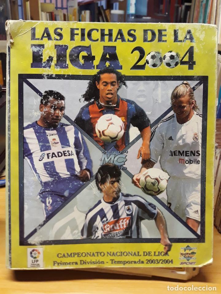 ALBUM FICHAS DE LA LIGA 2004 - VER FOTOS CROMOS (Coleccionismo Deportivo - Álbumes y Cromos de Deportes - Álbumes de Fútbol Completos)