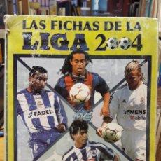 Álbum de fútbol completo: ALBUM FICHAS DE LA LIGA 2004 - VER FOTOS CROMOS. Lote 212463201