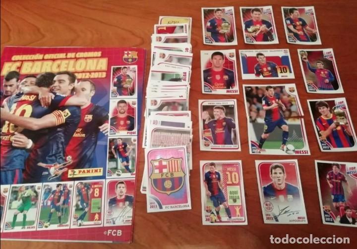 COLECCIÓN OFICIAL F. C. BARCELONA 2012/13 SIN PEGAR MÁS ALBUM VACIO (Coleccionismo Deportivo - Álbumes y Cromos de Deportes - Álbumes de Fútbol Completos)