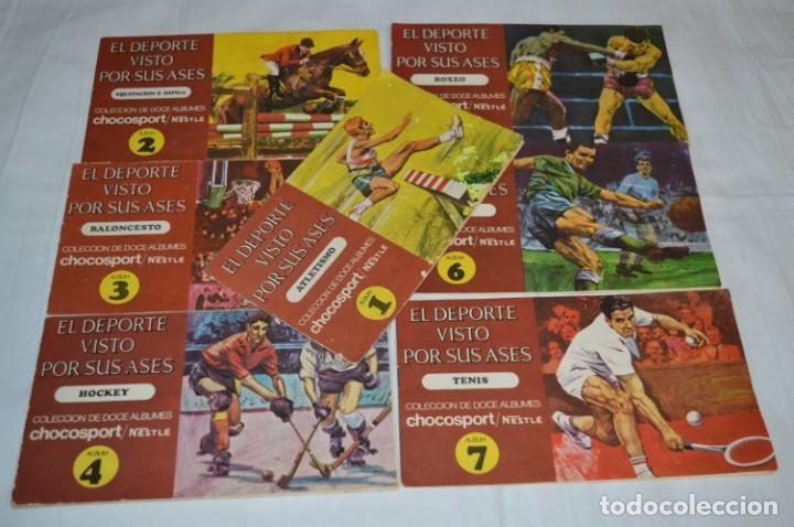 NESTLÉ -- EL DEPORTE VISTO POR SUS ASES -- LOTE 7 PRIMEROS ÁLBUMES / TODOS COMPLETOS ¡MIRA FOTOS! (Coleccionismo Deportivo - Álbumes y Cromos de Deportes - Álbumes de Fútbol Completos)