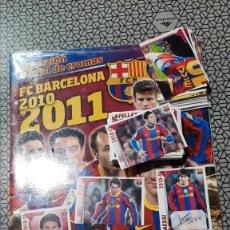 Álbum de fútbol completo: -COLECCION COMPLETA-BARCELONA 2010-2011-CROMOS SIN PEGAR+ALBUM-PRECINTADO-MESSI. Lote 214314495