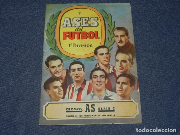 ALBUM ASES DEL FUTBOL 1 DIVISION CROMOS AS SERIE C COMPLETO !!!! EDT BRUGUERA 1944 (Coleccionismo Deportivo - Álbumes y Cromos de Deportes - Álbumes de Fútbol Completos)