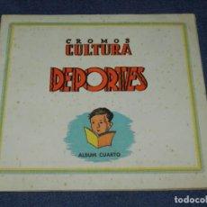Álbum de fútbol completo: ALBUM FÚTBOL COMPLETO - CROMOS CULTURA DEPORTES, ALBUM CUARTO, EDT BRUGUERA 1942. Lote 214356318