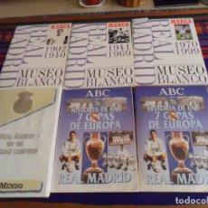 Álbum de fútbol completo: LAS 2 VERSIONES HISTORIA DE LAS 7 COPAS EUROPA REAL MADRID, 94 95 UN GRAN CAMPEÓN COMPLETO. REGALOS.. Lote 214400275
