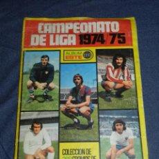 Álbum de fútbol completo: ALBUM CAMPEONATO DE LIGA 1974 / 75 ALBUM ESTE, COMPLETO, VER DESCROPCIÓN. Lote 214405017