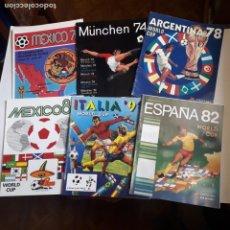Álbum de fútbol completo: ESPECTACULAR LOTE DE 11 ÁLBUMES RÉPLICAS DE LOS MUNDIALES DESDE MEXICO 70 A SUDÁFRICA 2010. Lote 214792730