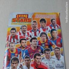 Álbum di calcio completo: ALBUM CROMO STARS 54 MEGACROMOS - BARCELONA - REAL MADRID - ATLETICO - REVISTA JUGON. Lote 214795473