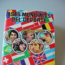 Álbum de fútbol completo: ALBUM COMPLETO ASES MUNDIALES DEL DEPORTE DE QUELCOM 1979 BUEN ESTADO LEER DESCRIPCION. Lote 214899275